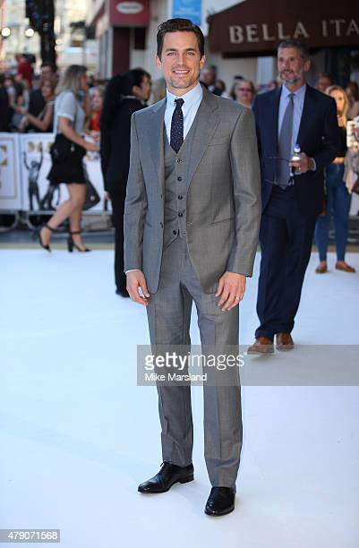 Matt Bomer attends the European Premiere of 'Magic Mike XXL' at Vue West End on June 30 2015 in London England