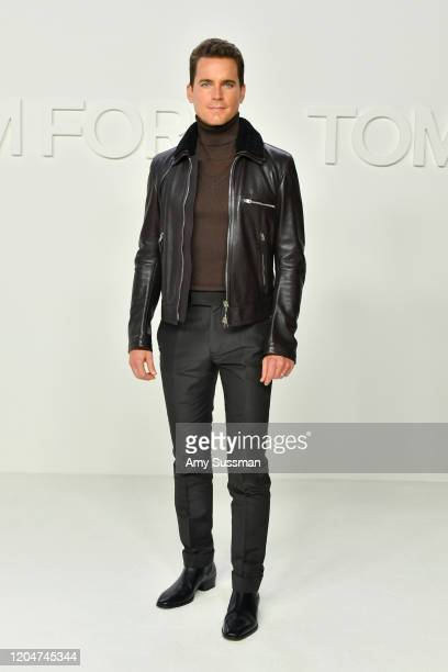 Matt Bomer attends the Tom Ford AW20 Show at Milk Studios on February 07 2020 in Hollywood California