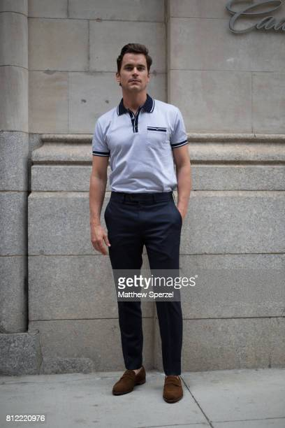 Matt Bomer is seen attending Todd Snyder during Men's New York Fashion Week wearing Todd Snyder on July 10 2017 in New York City