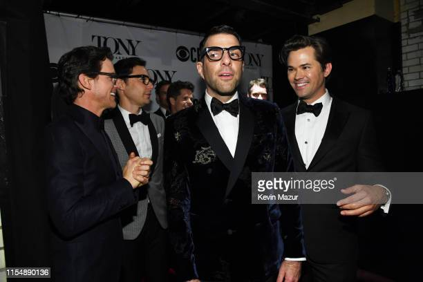 Matt Bomer Jim Parsons Zachary Quinto and Andrew Rannells attend the 73rd Annual Tony Awards at Radio City Music Hall on June 09 2019 in New York City