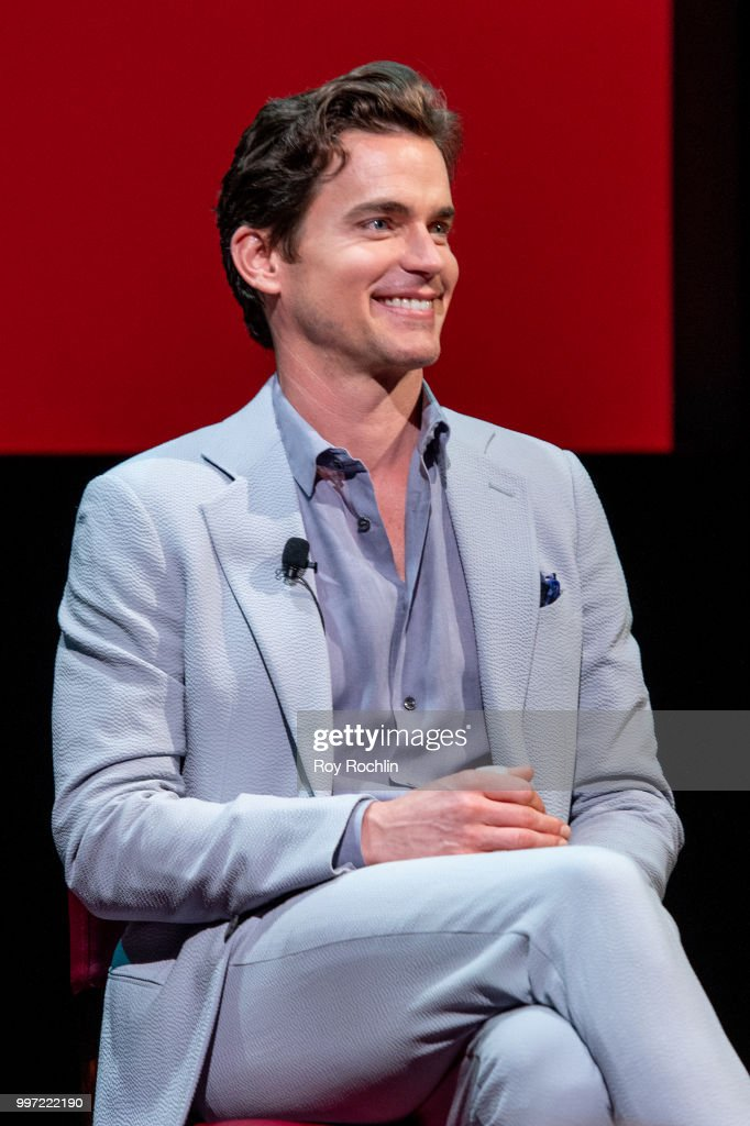 Matt Bomer on stage SAG-AFTRA Foundation's Conversations on Broadway with Matt Bomer at The Robin Williams Center on July 12, 2018 in New York City.