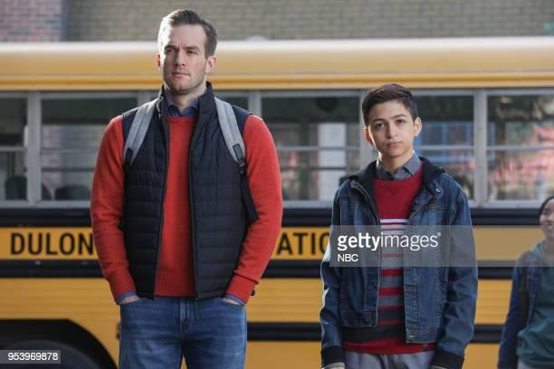 CHAMPIONS 'Matt Bomer Poster' Episode 107 Pictured Andy Favreau as Matthew JJ Totah as Michael
