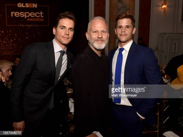 Matt Bomer Ryan Murphy and Charlie Carver attend the GLSEN Respect Awards at the Beverly Wilshire Four Seasons Hotel on October 19 2018 in Beverly...