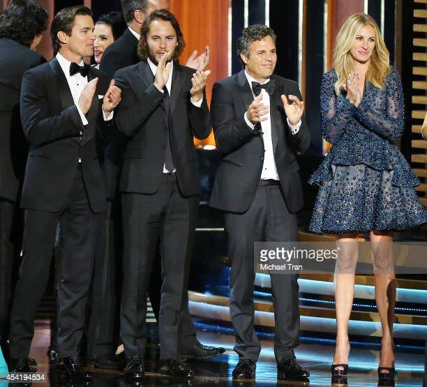 Matt Bomer Taylor Kitsch Mark Ruffalo and Julia Roberts attend the 66th Annual Primetime Emmy Awards held at Nokia Theatre LA Live on August 25 2014...