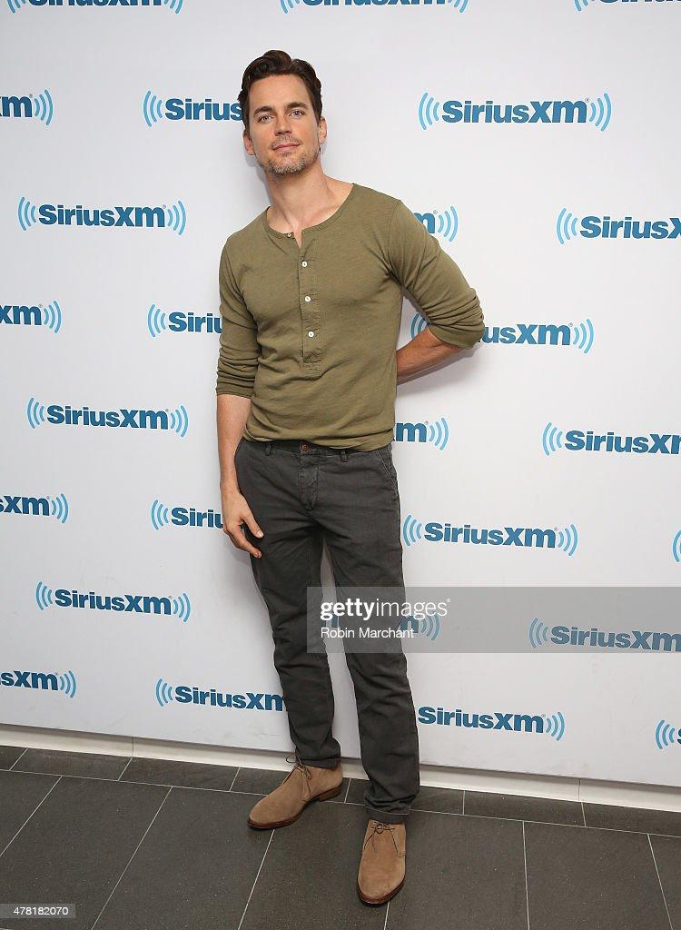 Matt Bomer visits at SiriusXM Studios on June 23, 2015 in New York City.