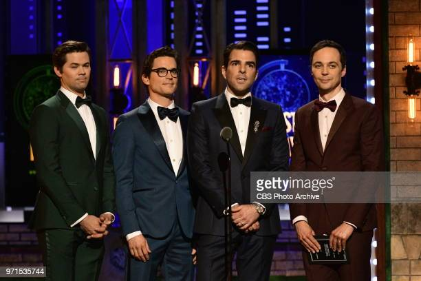 Matt Bomer Zachary Quinto and Jim Parsons at THE 72nd ANNUAL TONY AWARDS broadcast live from Radio City Music Hall in New York City on Sunday June 10...