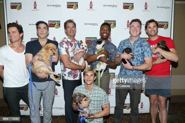 Matt Bomer Zachary Quinto Tuc Watkins Michael Benjamin Washington Brian Hutchinson Andrew Rannells and Charlie Carver of Boys in the Band attend the...
