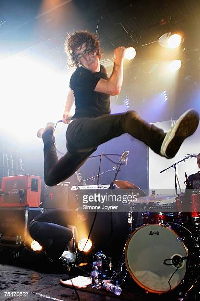 Matt Bowman of The Pigeon Detectives performs live on stage as part of 'The iTunes Music Festival' at the Institute of Contemporary Arts on July 18...