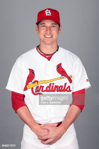 Matt Bowman of the St Louis Cardinals poses during Photo Day on Monday February 20 2017 at Roger Dean Stadium in Jupiter Florida
