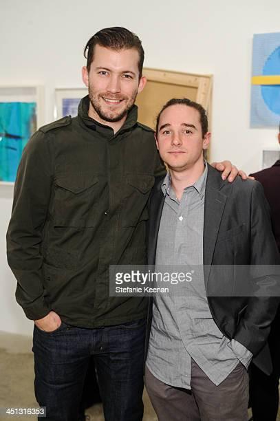Matt Brad and Adam Moskowitz attend The Rema Hort Mann Foundation LA Artist Initiative Benefit Auction on November 21 2013 in Los Angeles California