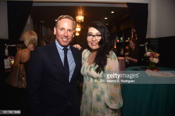 Matt Brodlie and Jenny Han attend the after party for a screening of Netflix's 'To All The Boys I've Loved Before' on August 16 2018 in Culver City...