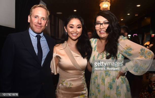 Matt Brodlie Lana Condor and Jenny Han attend the after party for a screening of Netflix's 'To All The Boys I've Loved Before' on August 16 2018 in...