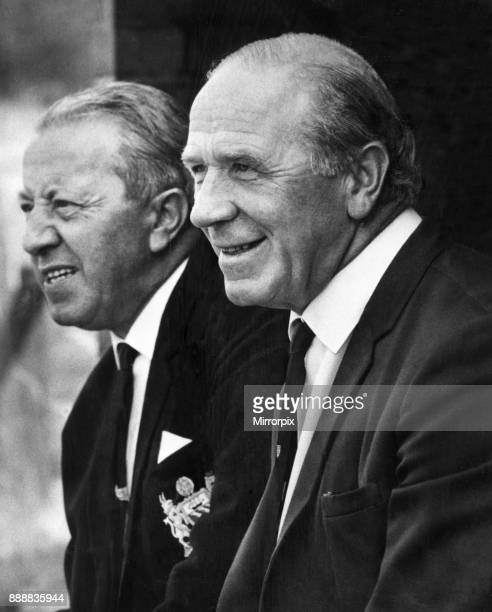 Matt Busby, Manchester United Manager, and assistant Jimmy Murphy, 2nd August 1967.