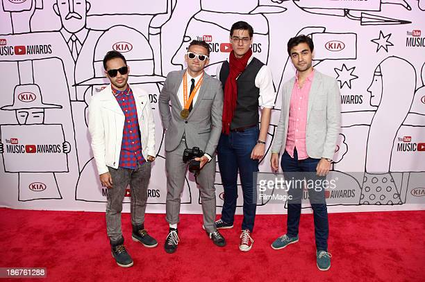 Matt Cab Casey Neistat Antonius Nazareth and Vijay Nazareth attend the 2013 YouTube Music awards at Pier 36 on November 3 2013 in New York City