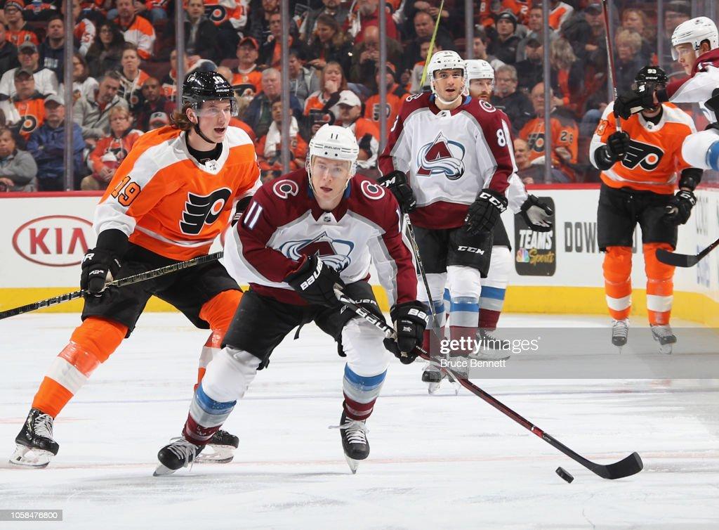 Colorado Avalanche v Philadelphia Flyers : News Photo