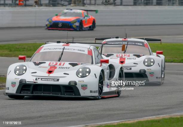 Matt Campbell AUS Nick Tandy GBR Fred Makowiecki FRA driver GT LE MANS of Porsche GT Team~Porsche 911 RSR 19 and Laurens Vanthoor BEL Earl Bamber NZL...