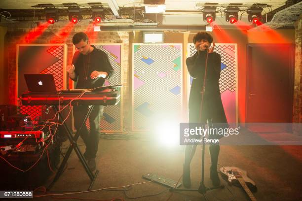 Matt Canham and Abigail Dersiley of Plaitum perform at Headrow House on April 21, 2017 in Leeds, United Kingdom.