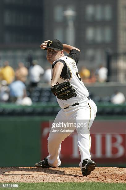 Matt Capps of the Pittsburgh Pirates pitches during the game against the Arizona Diamondbacks at PNC Park in Pittsburgh Pennsylvania on June 9 2008...