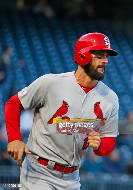 Matt Carpenter of the St Louis Cardinals in action against the Pittsburgh Pirates at PNC Park on April 3 2019 in Pittsburgh Pennsylvania