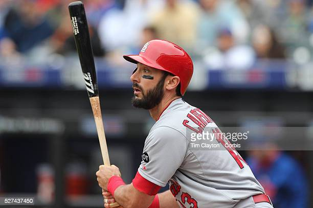 Matt Carpenter St Louis Cardinals batting during the New York Mets Vs St Louis Cardinals MLB regular season baseball game at Citi Field Queens New...
