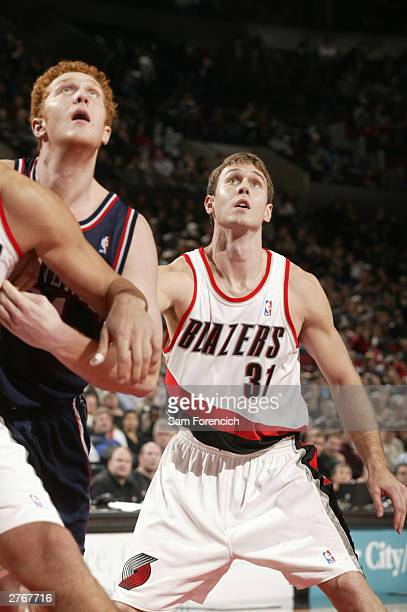 Matt Carroll of the Portland Trail Blazers in a game against the New Jersey Nets on November 28 2003 at the Rose Garden Arena in Portland Oregon NOTE...