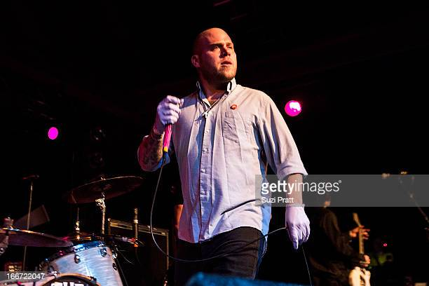 Matt Caughthran of The Bronx performs live at The Showbox on April 15 2013 in Seattle Washington
