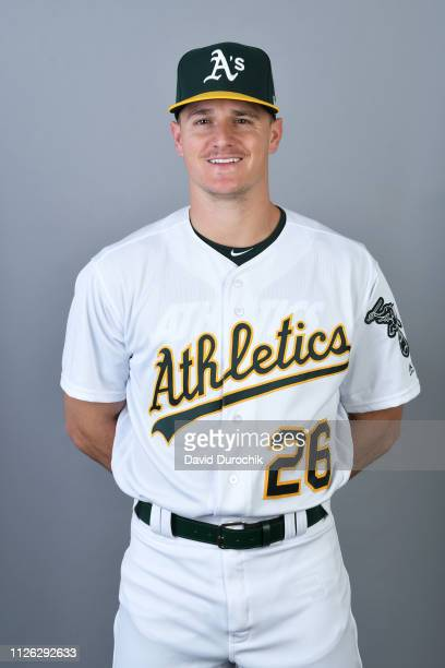 Matt Chapman of the Oakland Athletics poses during Photo Day on Tuesday February 19 2019 at Hohokam Stadium in Phoenix Arizona