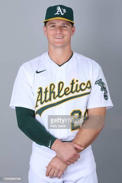 Matt Chapman of the Oakland Athletics poses during Photo Day on Thursday, February 20, 2020 at Hohokam Stadium in Phoenix, Arizona.