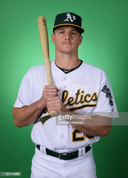 Matt Chapman of the Oakland Athletics poses for a portrait during photo day at HoHoKam Stadium on February 19 2019 in Mesa Arizona