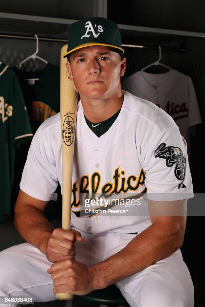 Matt Chapman of the Oakland Athletics poses for a portrait during photo day at HoHoKam Stadium on February 22 2017 in Mesa Arizona