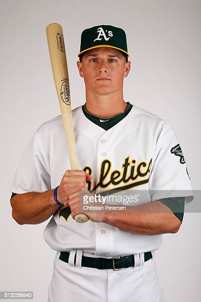 Matt Chapman of the Oakland Athletics poses for a portrait during the spring training photo day at HoHoKam Stadium on February 29 2016 in Mesa Arizona