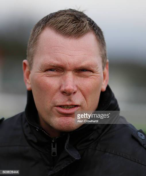 Matt Chapman poses at Towcester racecourse on January 07 2016 in Towcester England