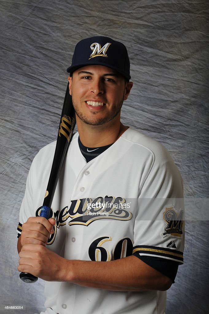 Matt Clark #60 of the Milwaukee Brewers poses for a portrait during Photo Day on February 27, 2015 at Maryville Baseball Park in Maryvale, Arizona.