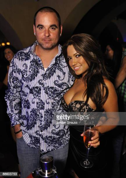 Matt Cohen and Jessica Burbciaga attend the Official OnlineBootyCall Million Dollar Sweepstakes Party at Opera Crimson on June 20 2009 in Los Angeles...