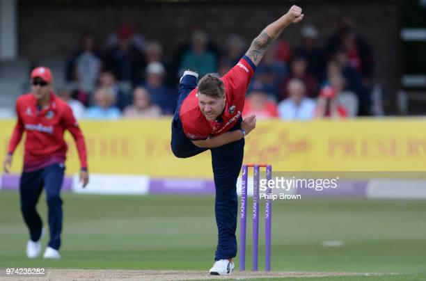 Matt Coles of Essex Eagles bowls during the Royal London OneDay Cup match between Essex Eagles and Yorkshire Vikings at the Cloudfm County Ground on...
