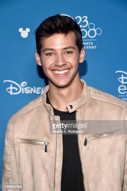 Matt Cornett of 'High School Musical The Musical The Series' took part today in the Disney Showcase at Disney's D23 EXPO 2019 in Anaheim Calif 'High...