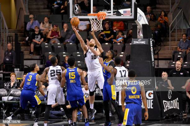 Matt Costello of the Austin Spurs shoots the ball during the game against the Santa Cruz Warriors on December 10 2017 at the HEB Center in Cedar Park...