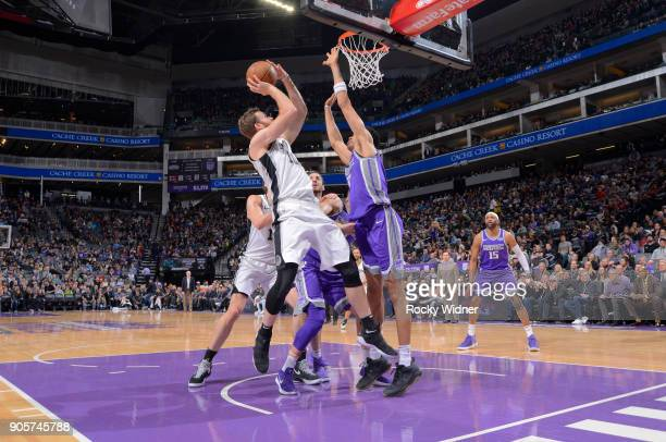 Matt Costello of the San Antonio Spurs shoots against the Sacramento Kings on January 8 2018 at Golden 1 Center in Sacramento California NOTE TO USER...
