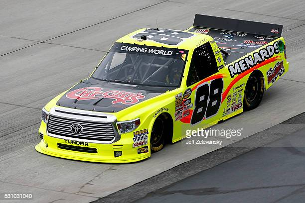 Matt Crafton driver of the ChiChi's/Menards Toyota practices for the NASCAR Camping World Truck Series at Dover International Speedway on May 12 2016...