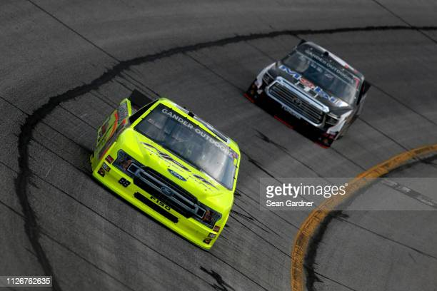 Matt Crafton driver of the Rip It/Menards Ford practices for the NASCAR Gander Outdoor Truck Series Ultimate Tailgating 200 at Atlanta Motor Speedway...