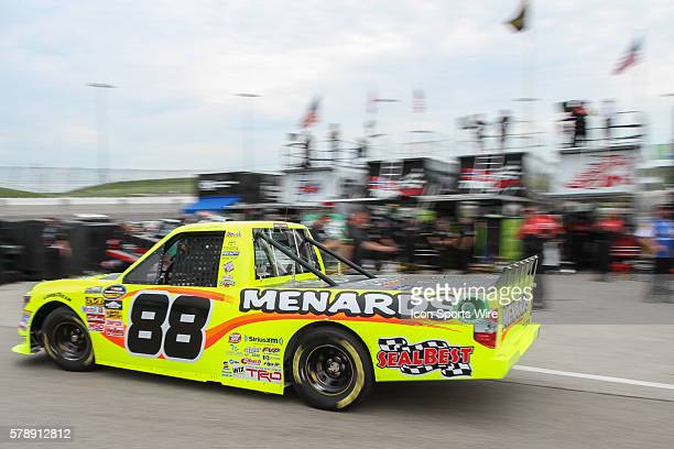 Matt Crafton No 88 Ideal DoorMenards Toyota during practice for the NASCAR Camping World Truck Series American Ethanol 200 presented by Enogan at...