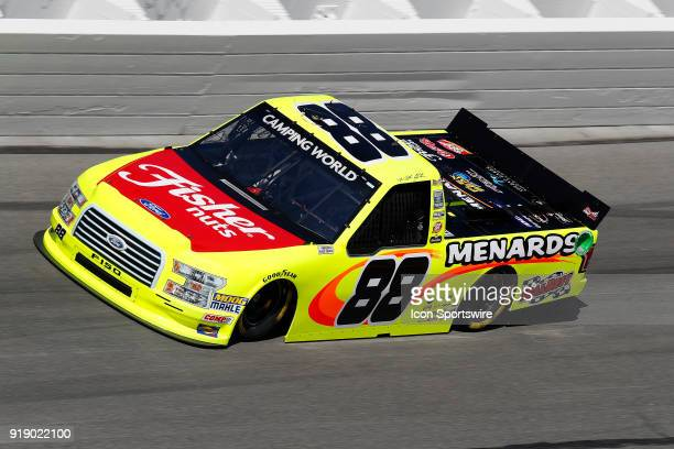 Matt Crafton ThorSport Racing Fisher Nuts/ Menards Ford F150 during practice for the NextEra Energy Resources 250 NASCAR Camping World Truck Series...