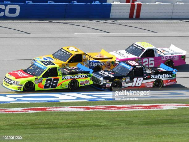 Matt Crafton ThorSport Racing Ford F150 Fisher Nuts/ Menards Noah Gragson Kyle Busch Motorsports Toyota Tundra SafeLite AutoGlass Todd Gilliland Kyle...
