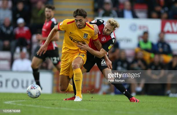 Barry Roche of Morecambe punches the ball clear during the Sky Bet League Two match between Morecambe and Northampton Town at Globe Arena on August...