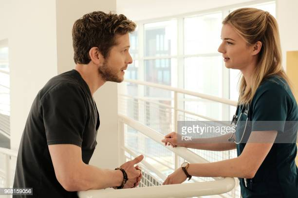 Matt Czuchry and Emily VanCamp in the 'Lost Love' episode of THE RESIDENT airing Monday March 26 on FOX