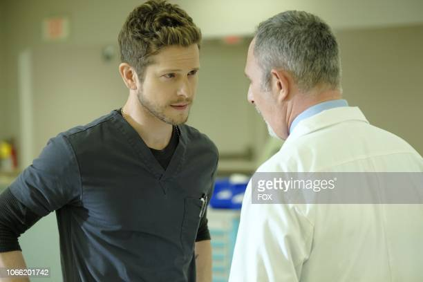 Matt Czuchry and guest star Andy Milder in the 'Trial Error' episode of THE RESIDENT airing Monday Nov 5 on FOX
