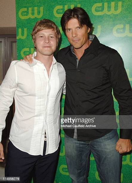 Matt Czuchry and Paul Johansson during The CW Summer 2006 TCA Party Red Carpet at Ritz Carlton in Pasadena California United States