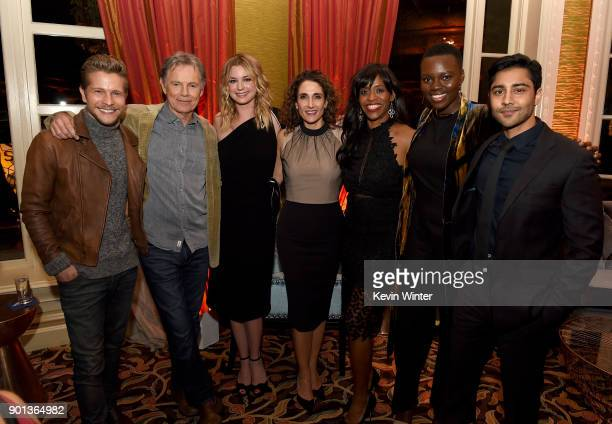 Matt Czuchry Bruce Greenwood Emily Vancamp Melina Kanakaredes Merrin Dungey Shaunette Renee Wilson and Manish Dayal attend the FOX AllStar Party...