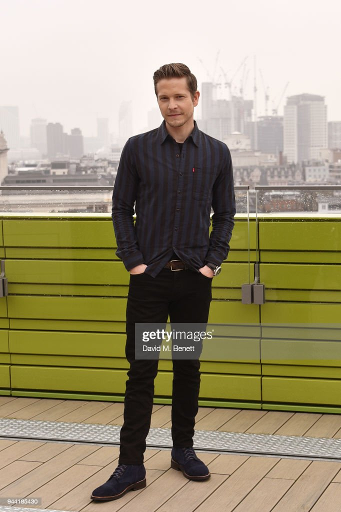 Matt Czuchry poses in London to promote their new medical TV drama 'The Resident' on April 10, 2018 in London, England.