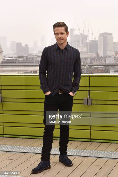 Matt Czuchry poses in London to promote their new medical TV drama 'The Resident' on April 10 2018 in London England